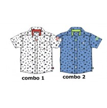 Kinship baby boys blouse combo 2 silver lake blue (4 pcs)