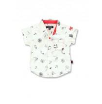 138335  Kinship baby boys blouse optical white+silver lake blue (8 pcs)
