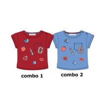 Youth Tonic baby girls shirt combo 2 silver lake blue (4 pcs)