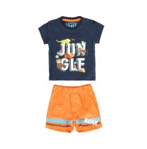 Psychotropical baby boys set: shirt+short combo 1 blue nights (4 pcs)