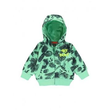 138490 Psychotropical baby boys cardigan sweat jade cream+grey melange (8 pcs)