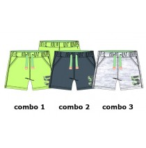 Psychotropical baby boys bermuda combo 3 light grey melange (2 pcs)