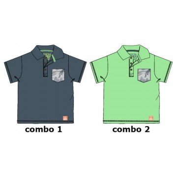 Psychotropical baby boys polo combo 2 jade cream (4 pcs)