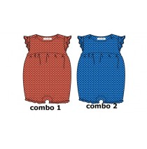 Youth Tonic baby girls overall combo 2 turkish sea (4 pcs)