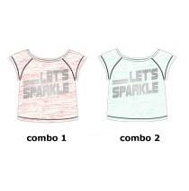 Sport Teen girls shirt combo 2 green space dey (6 pcs)