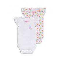 138594 Psychotropical baby girls romper (2-pack) combo 1 optical white (4 pcs)