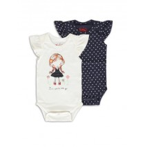 138596 Youth Tonic baby girls romper (2-pack) combo 1 marhsmallow (4 pcs)