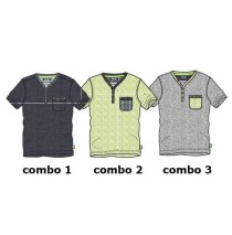 Psychotropical teen boys shirt combo 2 sharp green (4 pcs)