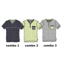 Psychotropical teen boys shirt combo 2 sharp green (4 pcs)