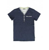 Psychotropical teen boys shirt combo 1 blue melange (3 pcs)