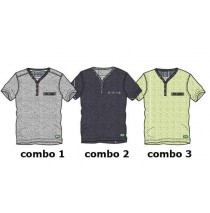 Psychotropical Small boys shirt combo 2 blue melange (4 pcs)