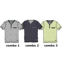 Psychotropical Small boys shirt combo 2 blue melange (4 pcs)