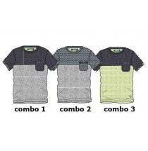 Psychotropical Small boys shirt combo 2 blue stripe/grey (4 pcs)