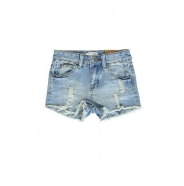Coastal Cruise small girls denim short medium blue (5 pcs)