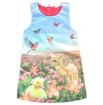 Psychotropical small girls dress duck & dear (5 pcs)