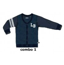 Slow futures small boys cardigan blue nights (5 pcs)