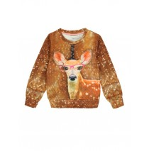 139553 Humanature sweatshirt deer + cat (12 pcs)