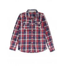 139616 teen boys blouse red/blue (10 pcs)
