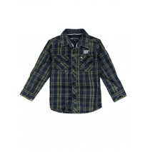 139733 Humanature small boys blouse kaki checks (10 pcs)