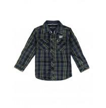 139733 Humanature small boys blouse kaki checks (10 pcs)