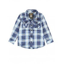 139791 Dark wonder small boys blouse blue checks (10 pcs)