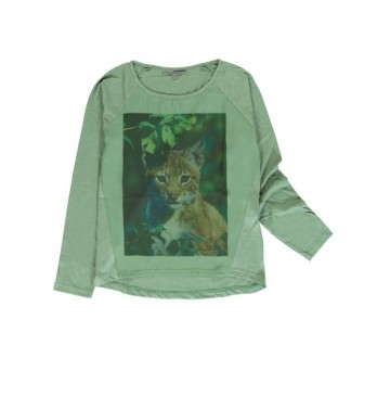 139851 Humanature ladies t-shirt duck green + black (18 pcs)