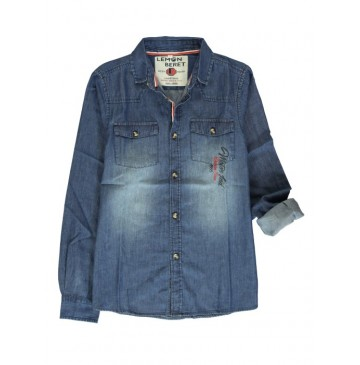 139930 teen boys blouse blue denim (10 pcs)