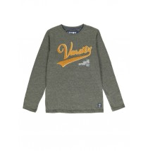 140017 Worldhood teen boys t-shirt dark grey melange + medieval blue (12 pcs)
