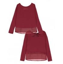140103 Dark wonder ladies t-shirt ruby wine + medieval blue + black (24 pcs)