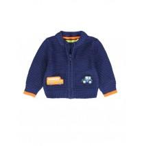 140110 Worldhood baby boys cardigan medieval blue + grey melange (8 pcs)