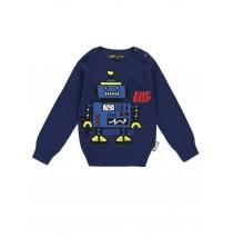 140141 Dark wonder small boys pullover medieval blue + grey melange (12 pcs)
