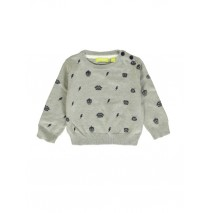 140190 Dark Wonder baby boys pullover grey melange + medieval blue (8 pcs)