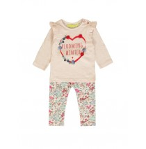 140259 Humanature baby girls set:shirt+legging potpourri+sodalite blue (8 pcs)