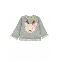 140261 Humanature baby girls sweatshirt twisted grey-white + sodalite blue (8 pcs)