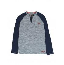 140275 The thinker mens t-shirt blue + grey melange (18 pcs)