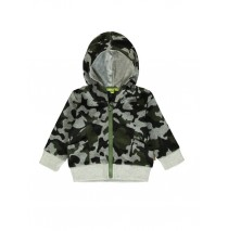 140285 Humanature baby boys cardigan sweat camouflage grey + galaxy blue (8 pcs)