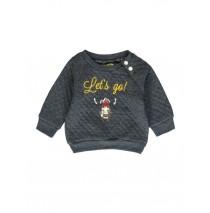 140286 Humanature baby boys sweatshirt blue melange + vineyard green (8 pcs)