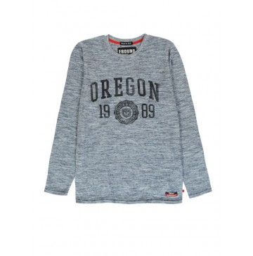 140303 The thinker mens t-shirt blue + grey melange (18 pcs)