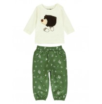 140327 Humanature baby boys set:shirt+jogging pant marshmallow+vineyard green (8 pcs)