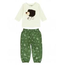 140327 Humanature baby boys set:shirt+jogging pant marshmallow+vineyard green (8 pcs)