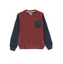 140360 Sport teen boys sweatshirt twisted bordeaux + twisted blue wing teal (12 pcs)