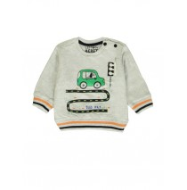 140371 Worldhood baby boys sweatshirt lt grey melange + dk grey melange (8 pcs)