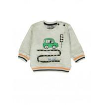 140371 Worldhood baby boys sweatshirt lt grey melange+dk grey melange (8 pcs)