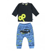 140375 Worldhood baby boys set:shirt+jogging pant outer space+palace blue (8 pcs)