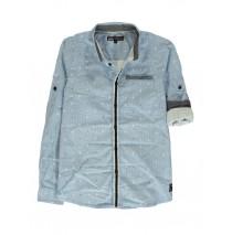 140401 The thinker teen boys blouse blue (10 pcs)