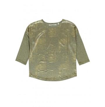 140473 Dark wonder ladies t-shirt gold + silver (18 pcs)