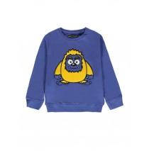 140484 Worldhood small boys sweatshirt blue + dark grey melange (12 pcs)