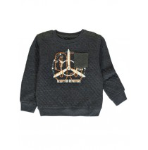 140492 The thinker small boys sweatshirt blue melange + dark grey melange (12 pcs)