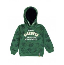 140497 Worldhood small boys sweatshirt posy green + grey melange (12 pcs)