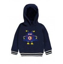 140501 Dark wonder small boys sweatshirt medieval blue + dark grey melange (12 pcs)